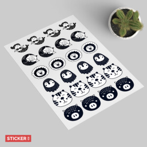 Sticker Animaux Mignon 2