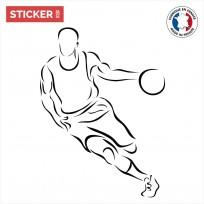Sticker Basketteur Dribble