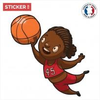 Sticker Basketteuse