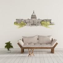 Sticker Capitole USA