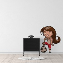 Sticker Fille Football