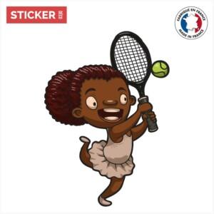 Sticker Fille Tennis