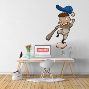 Sticker Garçon Baseball