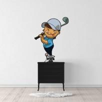 Sticker Garçon Golf