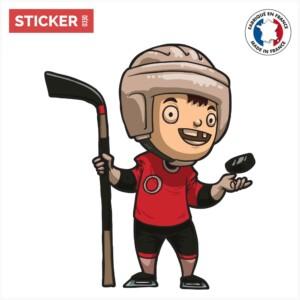Sticker Garçon Hockey Sur Glace