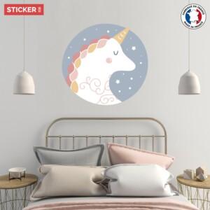 Sticker Licorne De Nuit