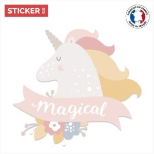 Sticker Licorne Magique
