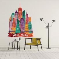Sticker New York Coloré