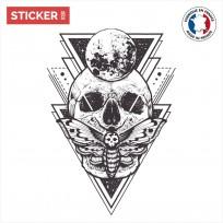 Sticker Tête De Mort Mandala