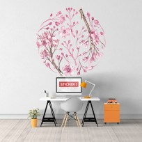 sticker branches roses