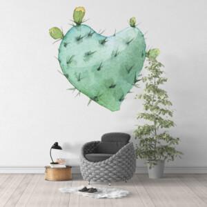 sticker cactus coeur
