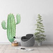 sticker cactus deux branches