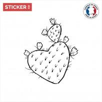 sticker cactus doodle coeur
