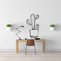 sticker cactus doodle Plante