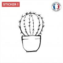 sticker cactus doodle pot
