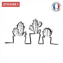 sticker cactus Pots Collection
