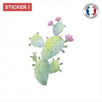 sticker cactus Coloré