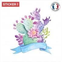 sticker cactus Bouquet Coloré