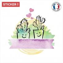 Sticker Cactus Amoureux
