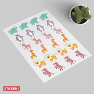 Sticker Animaux Savane