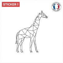 Sticker Girafe Géométrique