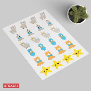Sticker Lama Kawaii