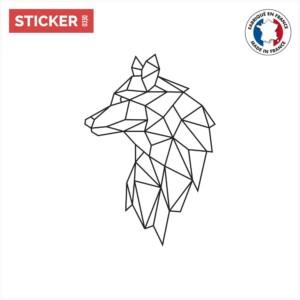 Sticker Loup Geometrique
