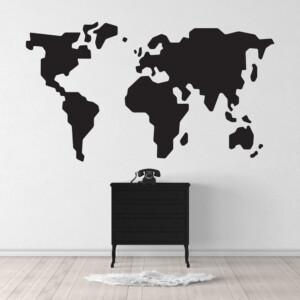 Sticker Map Monde
