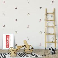 Sticker Oiseaux Printanier