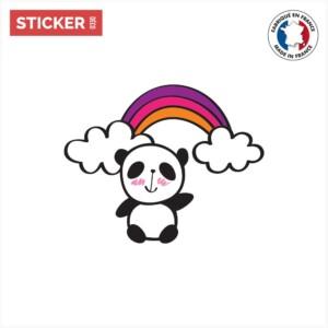 Sticker Panda Arc En Ciel