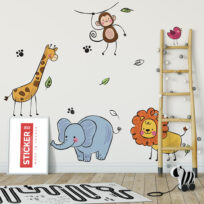 Stickers Animaux Afrique