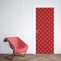 Sticker porte capiton rouge
