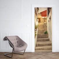 sticker porte escalier ruelle