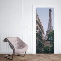 Sticker Porte Tour Eiffel Rue Parisienne