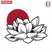 Sticker Fleur de Lotus Japonaise