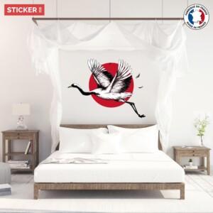 Sticker-Grue-Japonaise-Vol