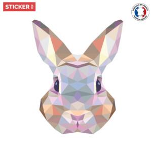 Sticker Lapin Origami