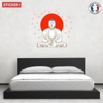 Sticker-zen-bouddha-red