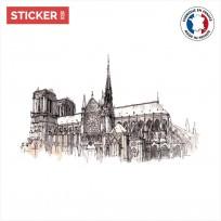 Sticker Cathédrale Notre Dame de Paris