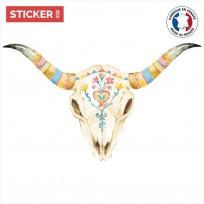 sticker-crâne-taureau-carnaval