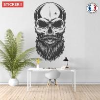 Sticker Crâne Elégant Barbe