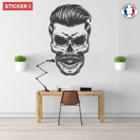 Sticker Crâne Elégant Coiffure