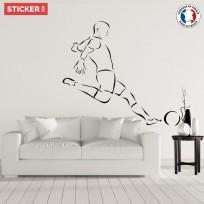 Sticker Footballeur Tir