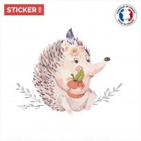 sticker-hérisson-aquarelle-vignette