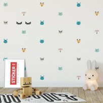 Stickers Planche Animaux 1