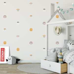 Stickers planche animaux scandinaves