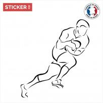 sticker-rugby Minimalisme