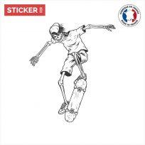 Sticker Skate Squelette Figure