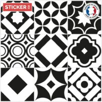 Stickers Carreaux de Ciment Monochrome