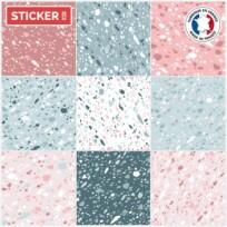 Stickers Carreaux Terrazzo Pastel